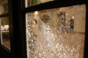 Vandals Throw Rocks Through Rep. Raul Ruiz's Palm Desert Office Windows