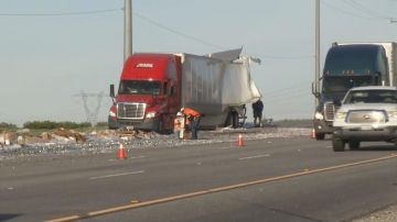 Two Big Rigs Collide In Whitewater