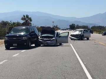 Four Car Collision In Desert Hot Springs