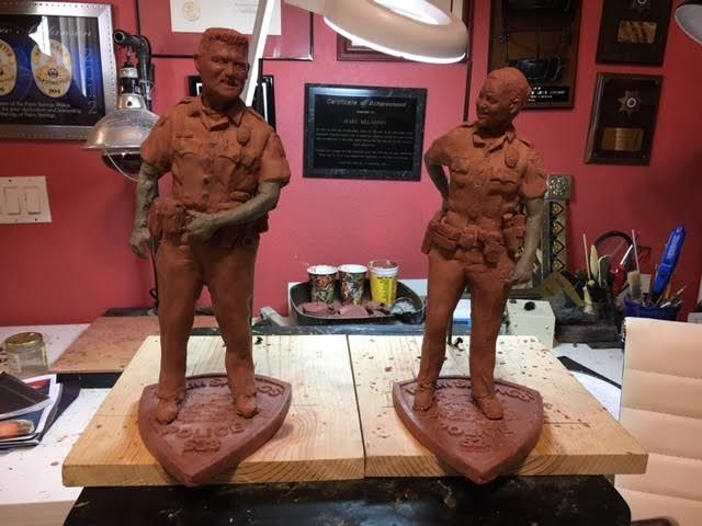 Statues For Fallen Officers Vega and Zerebny Need Your Help To Get Finished