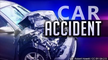 Tiny Car Tangles With Big Rig in Indio Hills