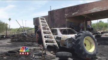 Owners Believe Old Tire Shop Fire is Arson