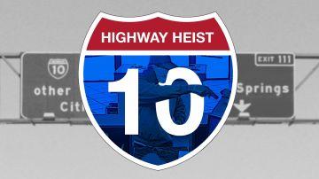 Highway Heist: Bank Robbers along Interstate 10