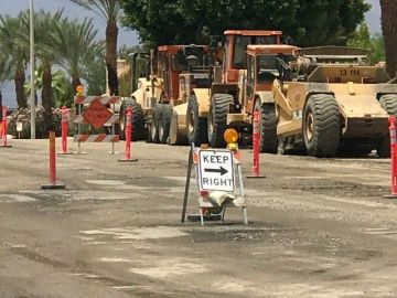 Cathedral City Residents Deal With Repavement Construction