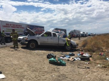 Three Seriously Hurt, Juvenile Ejected, in Rollover Chiriaco Summit Crash