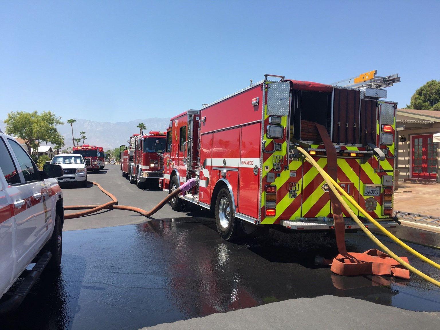 Firefighters Battle Attic Fire in Palm Desert