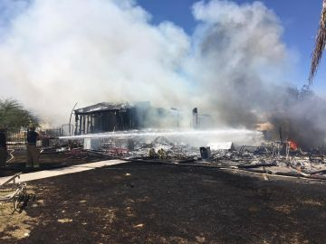 FIre Tears Through Thermal House, 10 Occupants Displaced