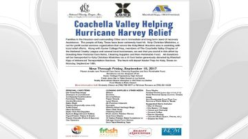 Coachella Valley Helping Hurricane Harvey Relief