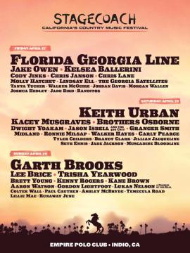 2018 Stagecoach Music Festival Lineup Set