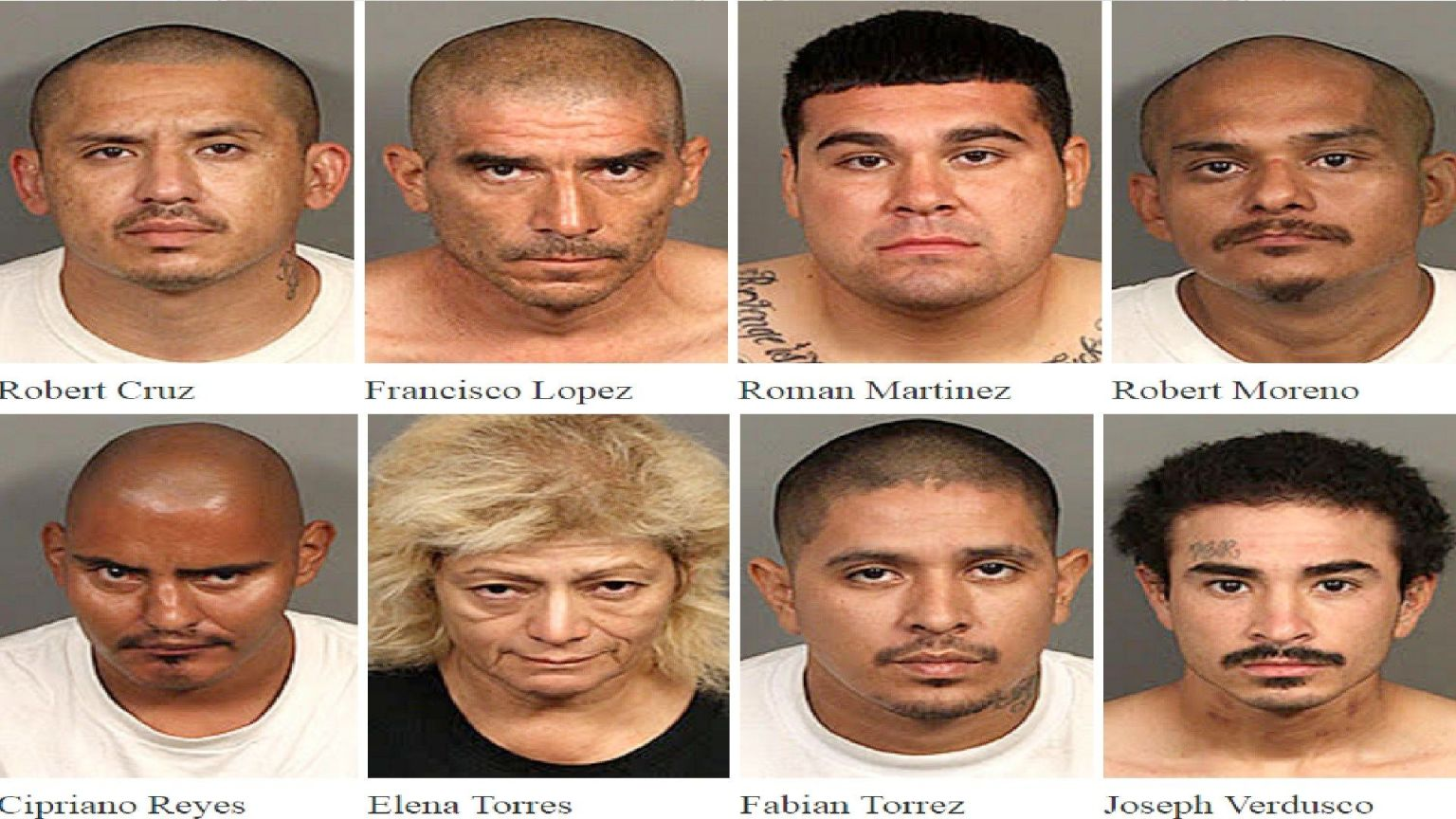 Eight Suspected Gang Members Arrested in Valley Sweep