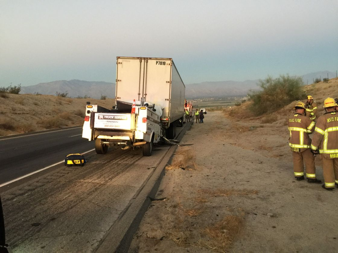 Man Killed After Rear Ending Big Rig in Coachella Identified
