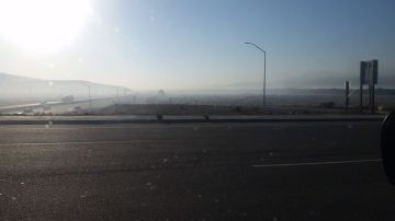 Multiple Fires Create Hazy Morning Air in Coachella Valley