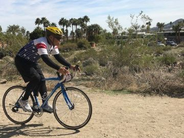 Dialysis Patient Bikes From Ontario to Rancho Mirage