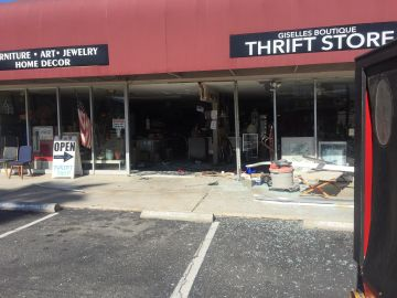 Car Crashes Through Palm Desert Storefront, One Person Seriously Injured