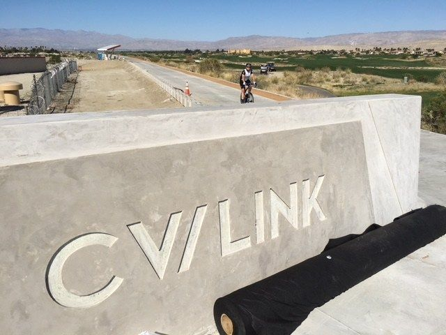 Cyclists Riding CV Link Before Official Opening