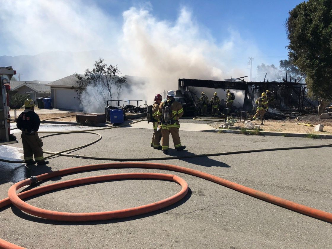 Fire Engulfs Desert Hot Springs Home, Damages Two Others