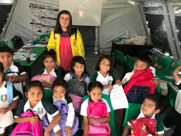 Middle Schooler Delivers Backpacks To Earthquake Victims In Mexico