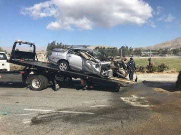 Driver Seriously Hurt in Fiery Solo Vehicle Desert Hot Springs Crash