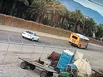 School Bus Full of Children Rear Ended in Mecca, Suspect Wanted