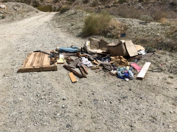Litter Bugs Trash Hiking Trails in Desert Hot Springs