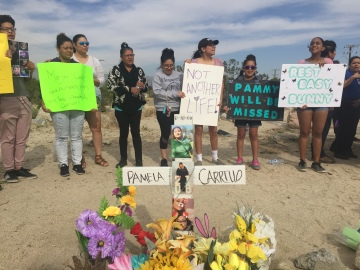 Group in Desert Hot Springs Rallies for Crosswalk after Death of Girl