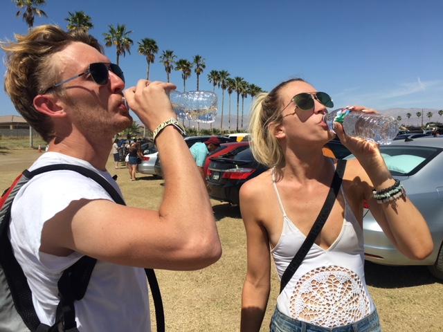 Coachella Goers Prepare For Triple Digit Heat On Last Festival Day