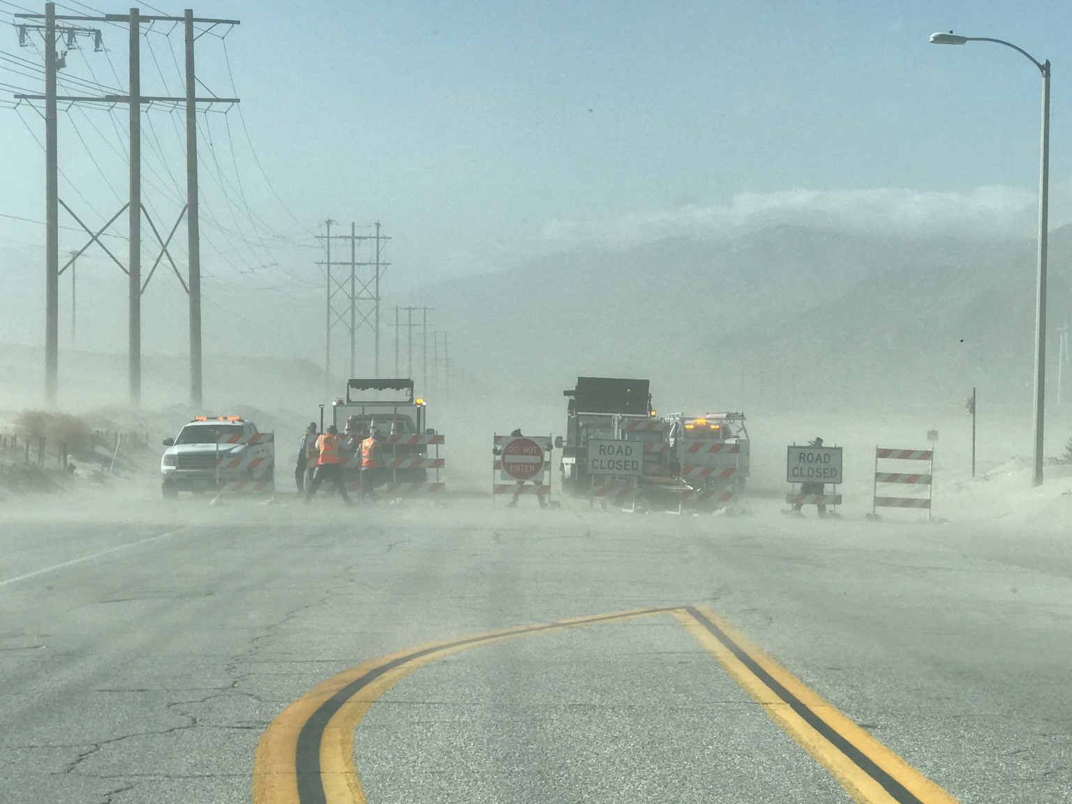 Sand Takes Over Palm Springs Roadways, Resulting in Closures