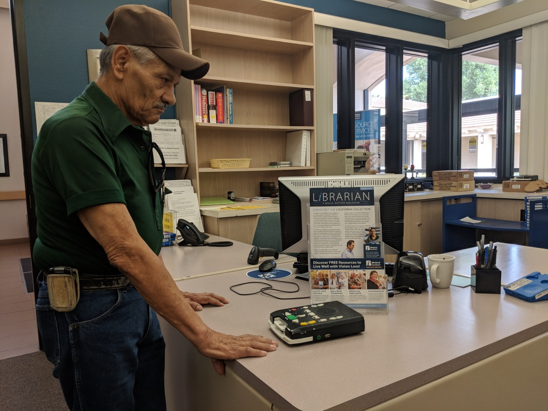 Organization for the Visually Impaired Recognizes National Library Week