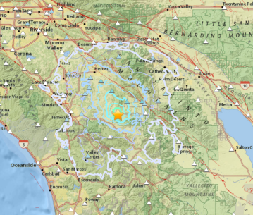 3.7 Magnitude Earthquake Shakes Valley and Mountain Communities