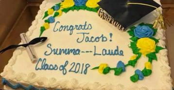 Summa Nerve: Grocer Censors Mom's Graduation Cake