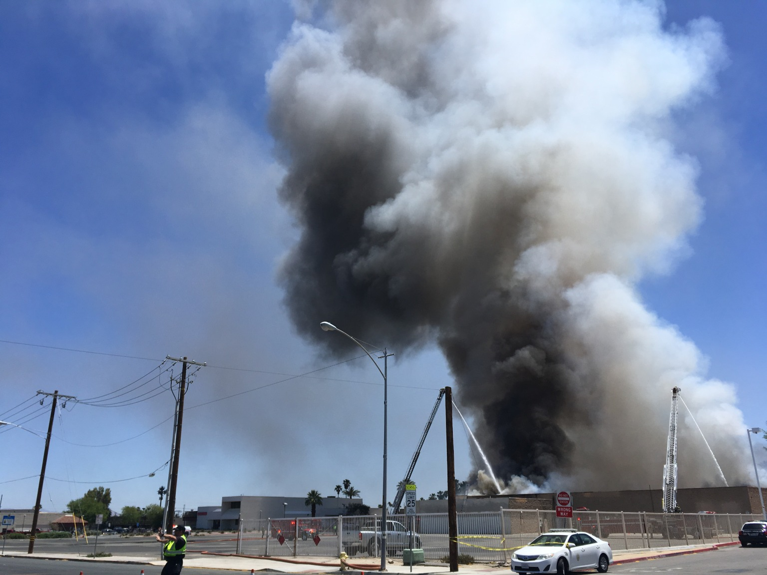 Abandoned Commercial Building Catches Fire in Indio