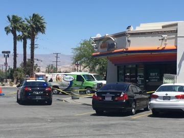 Two Stabbed at Palm Springs Convenience Store, Suspect at Large