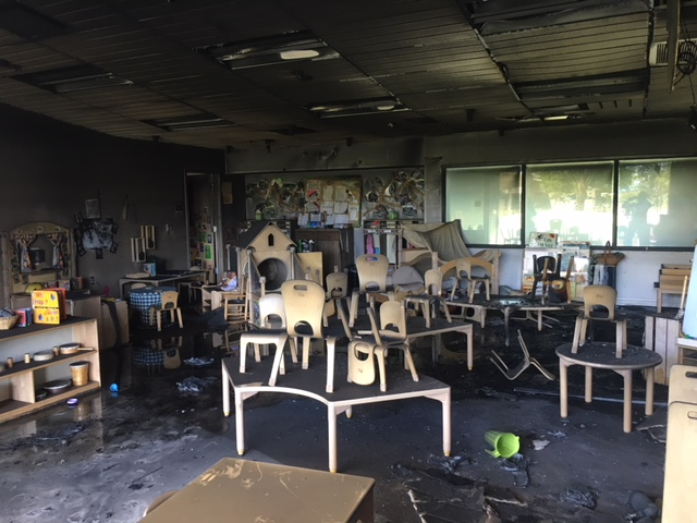 Thirty Toddlers Displaced After Fire Burns Early Education Center At COD