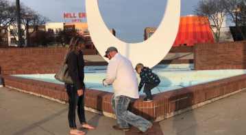 """Video goes viral after son """"crashes"""" proposal"""