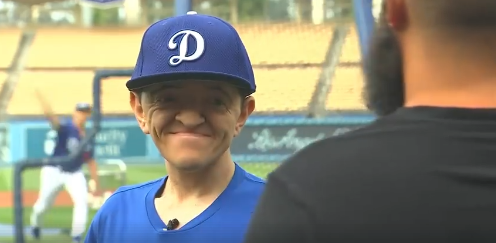 Special Needs Man, Michael Cadena, Throws Out Ceremonial First Pitch at Dodger Stadium