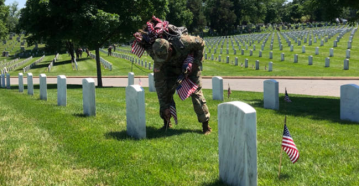 Soldiers Place 230,000 US Flags at Arlington National Cemetery