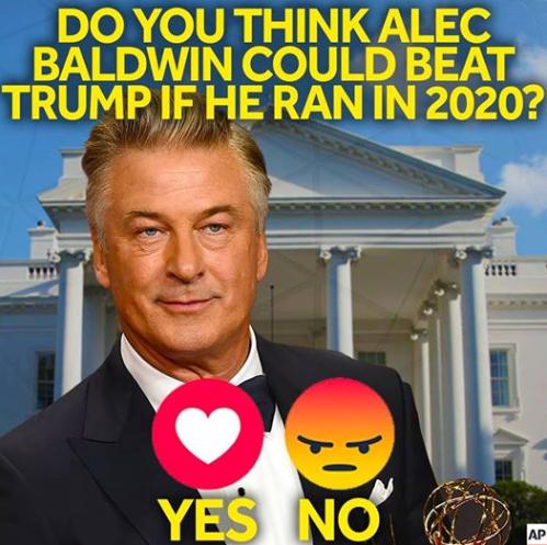 Alec Baldwin on 2020 bid: 'If I ran, I would win'