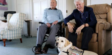 George HW Bush Gets a Service Dog Named Sully