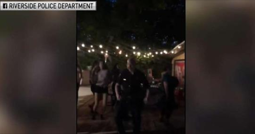 Riverside Police Officer Responds to Noise Complaint with Dancing