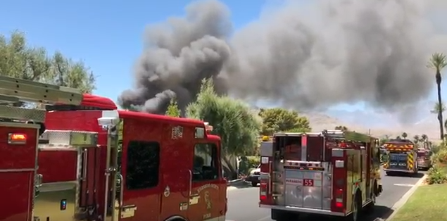 Four Firefighters Injured Battling Rancho Mirage House Fire