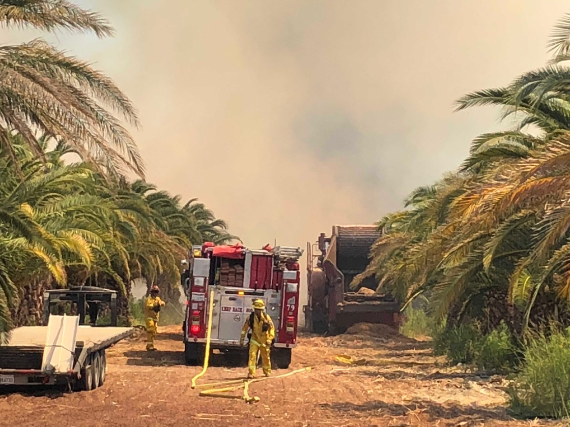 Fire Destroys Coachella Residential Building, Two Cars