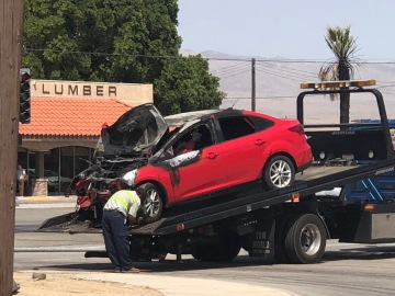 Man Arrested After Allegedly Stealing Car, Crashing It in Indio