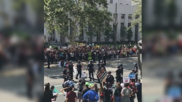 Attorney General Jeff Sessions Met By Protests In Los Angeles