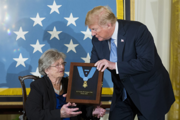 Trump awards posthumous Medal of Honor to World War II Army officer