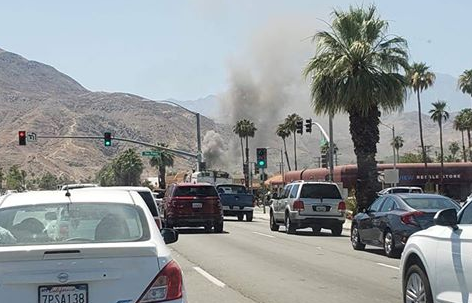 Two-Story Commercial Building Catches Fire in Palm Desert