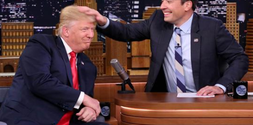 "Trump tells Fallon to ""be a man"" over hair-tussling"
