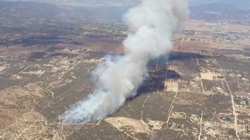 Wildfire Burns in the Mountain Area's Around Anza