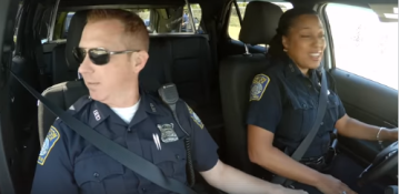 Police officers' patriotic duet for Fourth of July goes viral