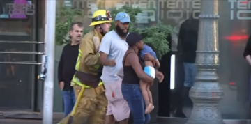 Small Child Rescued After Fire Near Downtown LA