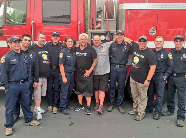 Celebrity Chefs Arrive at Carr Fire to Cook For Evacuees, Firefighters